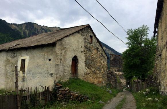 Сванская заброшенная деревня