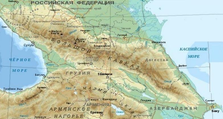 Грузия на карте мира, природа Грузии