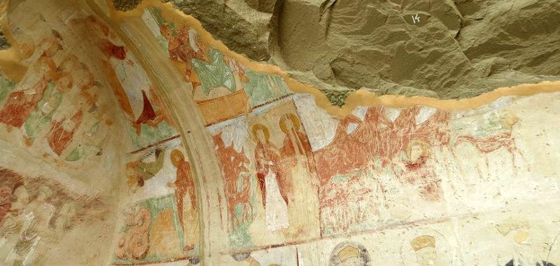Фрески в кельях Давид-Гареджа