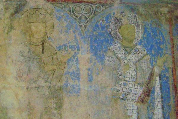 Кинцвиси фрески с изображением царицы Тамары