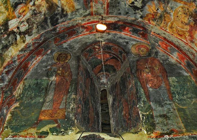фрески росписи в Сванетии паломники